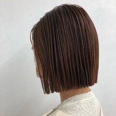切りっぱなしボブ 束感 ミニボブ ボブ ヘアスタイルや髪型の写真・画像
