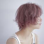外国人風カラー ショート ピンクアッシュ おフェロ
