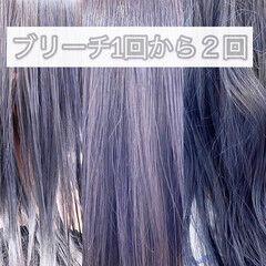 モード ラベンダーアッシュ ピンクラベンダー ラベンダーカラー ヘアスタイルや髪型の写真・画像