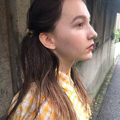 ガーリー ヘアアレンジ 抜け感 ロング ヘアスタイルや髪型の写真・画像