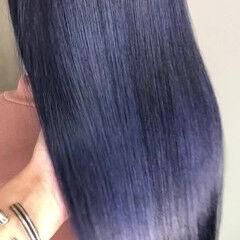 ストリート 青紫 デニム スポーツ ヘアスタイルや髪型の写真・画像