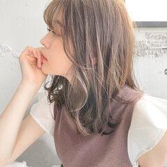 デート 大人かわいい アンニュイほつれヘア ミディアム ヘアスタイルや髪型の写真・画像