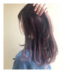 フェミニン ピンクラベンダー ピンク 春ヘア ヘアスタイルや髪型の写真・画像