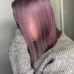 ピンク 切りっぱなしボブ ミニボブ フェミニン