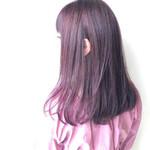 ラベンダーピンク デート ナチュラル ツヤ髪