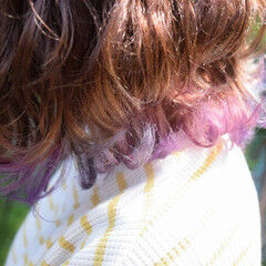 ショートボブ ボブ ガーリー ユニコーンカラー ヘアスタイルや髪型の写真・画像