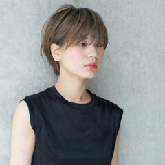 外国人風 ショート 大人かわいい 抜け感 ヘアスタイルや髪型の写真・画像