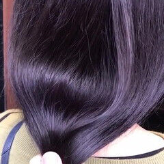 ナチュラル セミロング 透明感カラー 秋冬スタイル ヘアスタイルや髪型の写真・画像