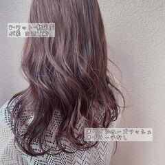 デート ナチュラル 大人可愛い ピンクカラー ヘアスタイルや髪型の写真・画像