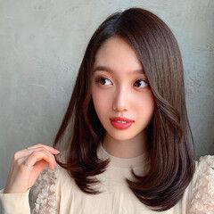 暗髪女子 レイヤー モテ髪 暗髪 ヘアスタイルや髪型の写真・画像