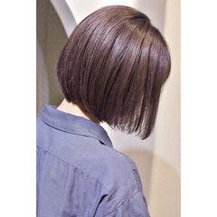 ラベンダーアッシュ ミニボブ ラベンダーピンク ラベンダー ヘアスタイルや髪型の写真・画像