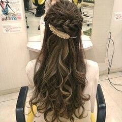 パーティ ゆるふわ ドレス ロング ヘアスタイルや髪型の写真・画像