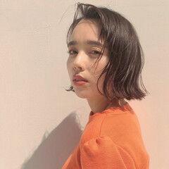 ナチュラル ワンレン 透明感 カジュアル ヘアスタイルや髪型の写真・画像