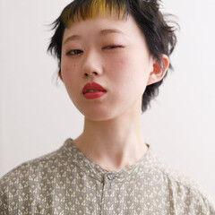 ベリーショート ショートバング インナーカラー ショート ヘアスタイルや髪型の写真・画像
