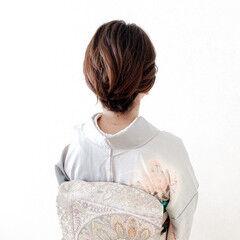 着物 エレガント 訪問着 結婚式ヘアアレンジ ヘアスタイルや髪型の写真・画像