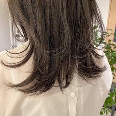 ナチュラル 暗髪 ミディアム 透明感カラー ヘアスタイルや髪型の写真・画像