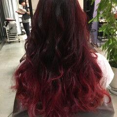 ピンク ビビッドカラー 大人女子 モード ヘアスタイルや髪型の写真・画像