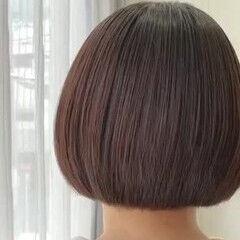 アッシュベージュ ナチュラル アッシュブラウン ショートボブ ヘアスタイルや髪型の写真・画像