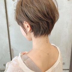ナチュラル 小顔ショート 横顔美人 ショートヘア ヘアスタイルや髪型の写真・画像