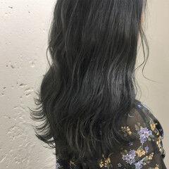 ネイビー ネイビーカラー アッシュ アッシュグレー ヘアスタイルや髪型の写真・画像