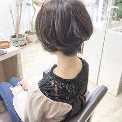ベリーショート アディクシーカラー ショートボブ ナチュラル ヘアスタイルや髪型の写真・画像