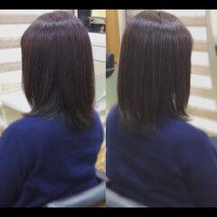 髪質改善カラー ミディアム 社会人の味方 鎖骨ミディアム ヘアスタイルや髪型の写真・画像