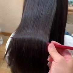 ロング 艶髪 美髪矯正 ナチュラル ヘアスタイルや髪型の写真・画像