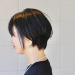 黒髪ショート ゆるナチュラル 黒髪 ショートボブ