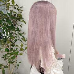 ロング ハイトーン ホワイトカラー ダブルカラー ヘアスタイルや髪型の写真・画像