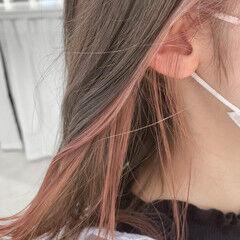 ミディアム ナチュラル 鎖骨ミディアム 小顔ヘア ヘアスタイルや髪型の写真・画像
