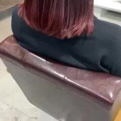 大人ハイライト ナチュラルグラデーション ピンク ナチュラル ヘアスタイルや髪型の写真・画像