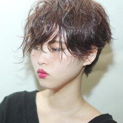 モード ハンサムショート ショート ショート ヘアスタイルや髪型の写真・画像