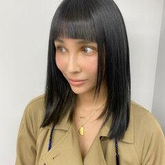 モード アッシュグレージュ グレージュ インナーカラー ヘアスタイルや髪型の写真・画像