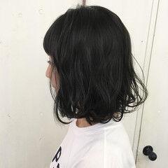 マット アッシュ ボブ スモーキーアッシュ ヘアスタイルや髪型の写真・画像