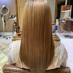 ロング ハイトーン 髪質改善トリートメント ブリーチカラー
