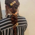 編みおろしヘア ナチュラル ロング ヘアアレンジ