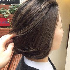 パープル ラベンダー ボブ パープルカラー ヘアスタイルや髪型の写真・画像