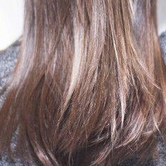 インナーカラーパープル ナチュラル パープルカラー パープル ヘアスタイルや髪型の写真・画像