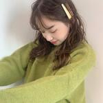 シースルーバング セミロング 簡単ヘアアレンジ 韓国ヘア