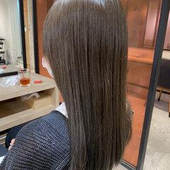 ミディアム 透明感カラー ブルージュ ミントアッシュ ヘアスタイルや髪型の写真・画像