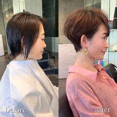 ショートヘア ナチュラル 吉瀬美智子 30代 ヘアスタイルや髪型の写真・画像