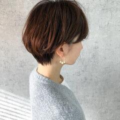 マッシュショート ナチュラル 大人女子 大人グラボブ ヘアスタイルや髪型の写真・画像