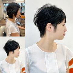 小顔ショート ニュアンスヘア ショート 美シルエット ヘアスタイルや髪型の写真・画像