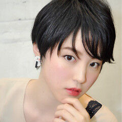 小顔 かっこいい 比留川游 大人女子 ヘアスタイルや髪型の写真・画像