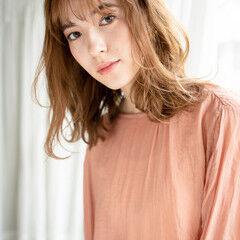 モテ髪 ミディアム ゆるふわパーマ エアウェーブ ヘアスタイルや髪型の写真・画像