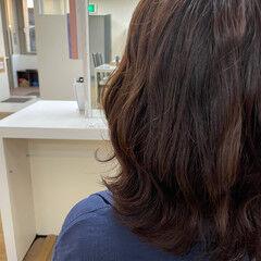 ミディアム ブランジュ 秋ブラウン 大人かわいい ヘアスタイルや髪型の写真・画像