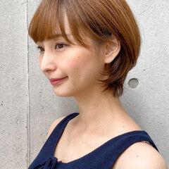ひし形 丸みショート ショートヘア ショート ヘアスタイルや髪型の写真・画像