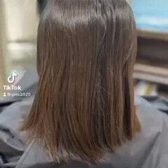 切りっぱなしボブ モード ショートボブ ボブ ヘアスタイルや髪型の写真・画像