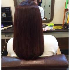 コンサバ レッド 愛され マルサラ ヘアスタイルや髪型の写真・画像