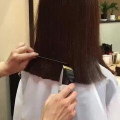 ワンレングス 大人カジュアル ミディアム エレガント ヘアスタイルや髪型の写真・画像